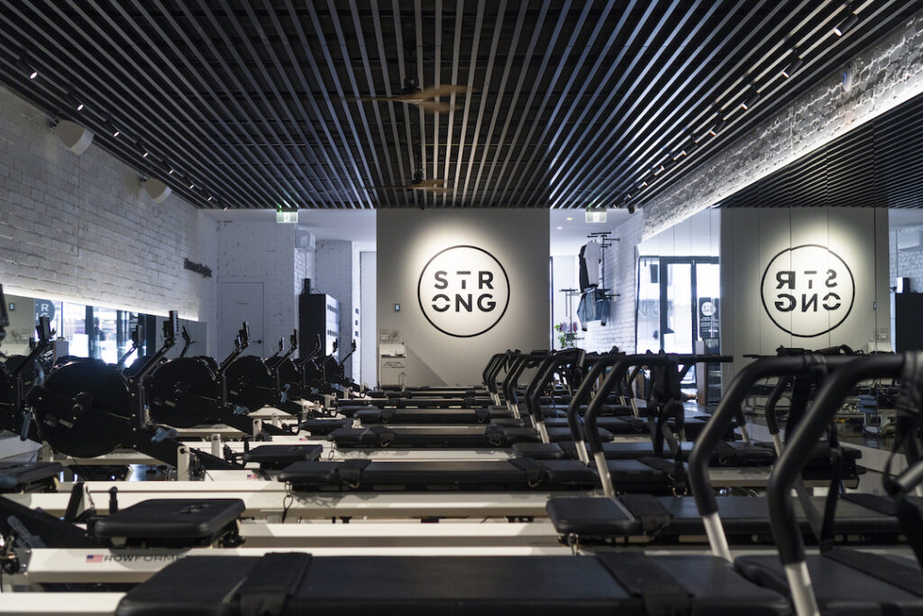 Studio sulla of Rowformers at STRONG Pilates