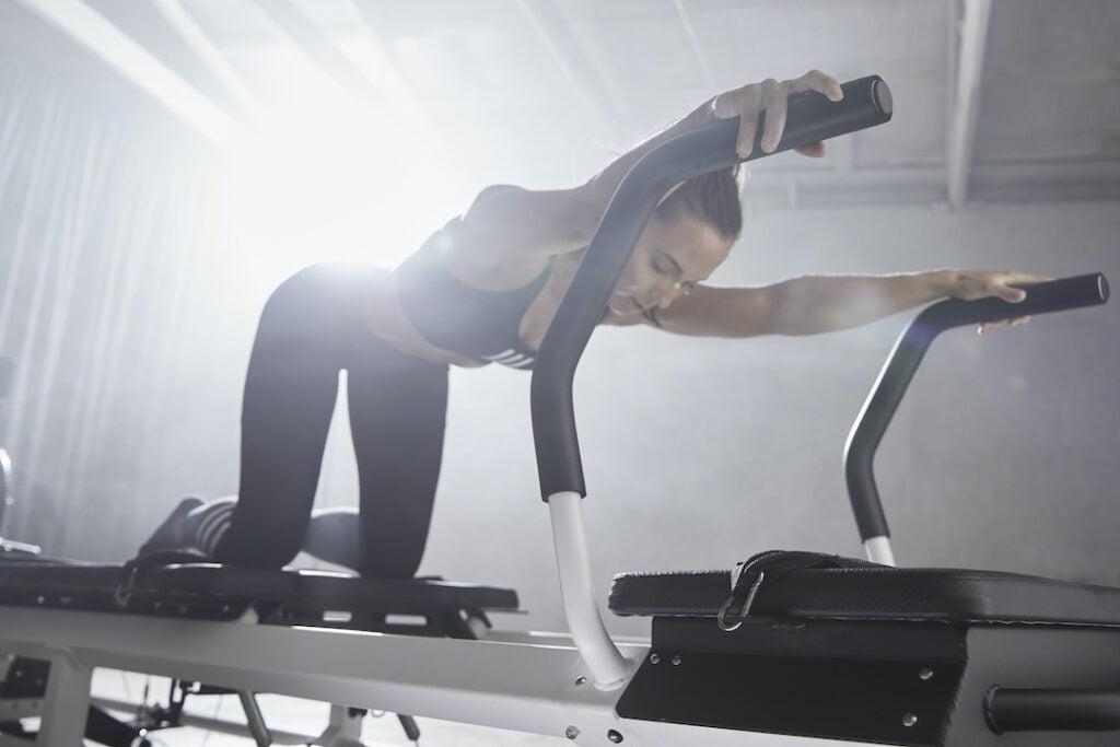 Woman using Rowformer
